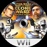 Star Wars The Clone Wars: Republic Heroes Wii disc (RQLE64)