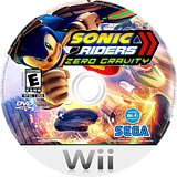 Sonic Riders: Zero Gravity Wii disc (RS9E8P)