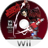 No More Heroes 2: Desperate Struggle Wii disc (RUYE41)