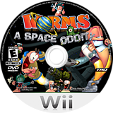 Worms: A Space Oddity Wii disc (RWME78)