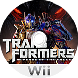 Transformers: Revenge of the Fallen Wii disc (RXIE52)