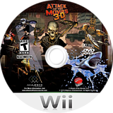 Attack of the Movies 3D Wii disc (S3AE5G)