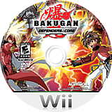 Bakugan: Defenders of the Core Wii disc (SB6E52)