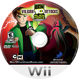 Ben 10: Alien Force Vilgax Attacks Wii disc (SBNEG9)
