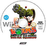 Worms: Battle Islands Wii disc (SILE78)