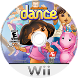 Nickelodeon Dance Wii disc (SNLE54)
