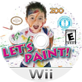Let's Paint Wii disc (SPUE20)