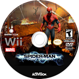 Spider-Man: Edge of Time Wii disc (SQME52)