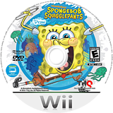 SpongeBob SquigglePants Wii disc (SS8E78)