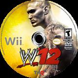 WWE '12 Wii disc (SW6E78)