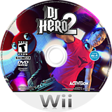 DJ Hero 2 Wii disc (SWBE52)