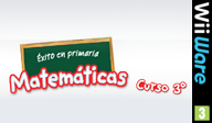 Éxito en primaria Matemáticas curso 3º WiiWare cover (WU3P)