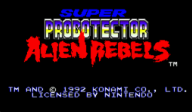 Super Probotector: Alien Rebels VC-SNES cover (JALP)