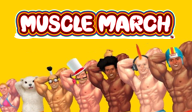 Muscle March WiiWare cover (WMME)