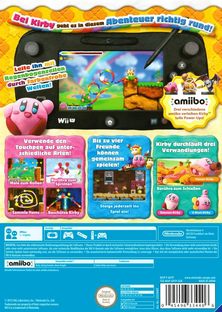 Kirby und der Regenbogen-Pinsel WiiU backHQ (AXYP01)