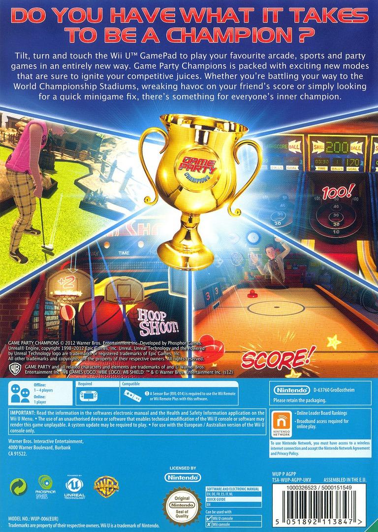 Game Party Champions WiiU backHQ (AGPPWR)