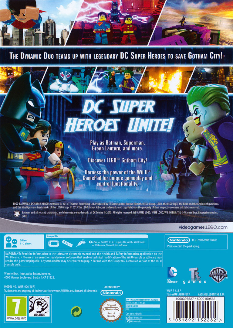 LEGO Batman 2: DC Super Heroes WiiU backHQ (ALBPWR)