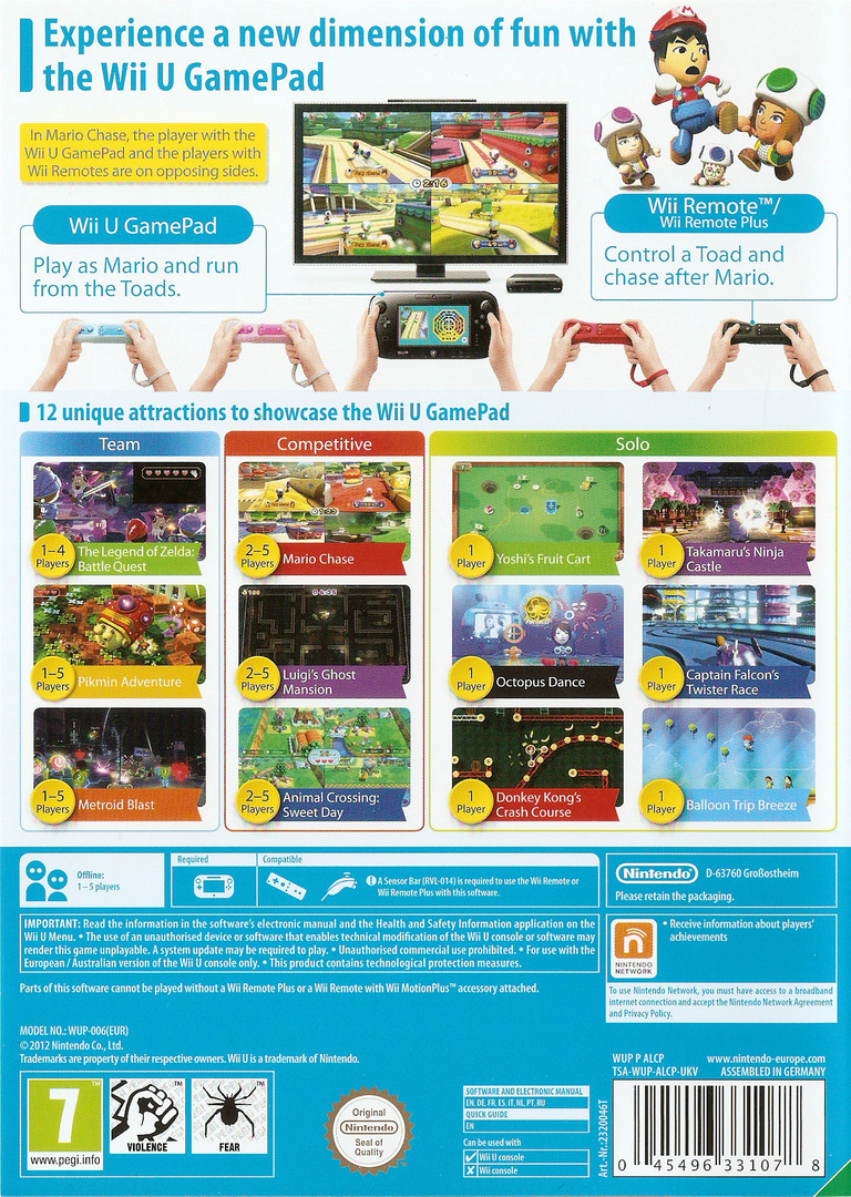 Nintendo Land WiiU backHQ (ALCP01)