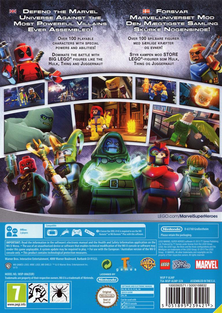 LEGO Marvel Super Heroes WiiU backHQ (ALMPWR)