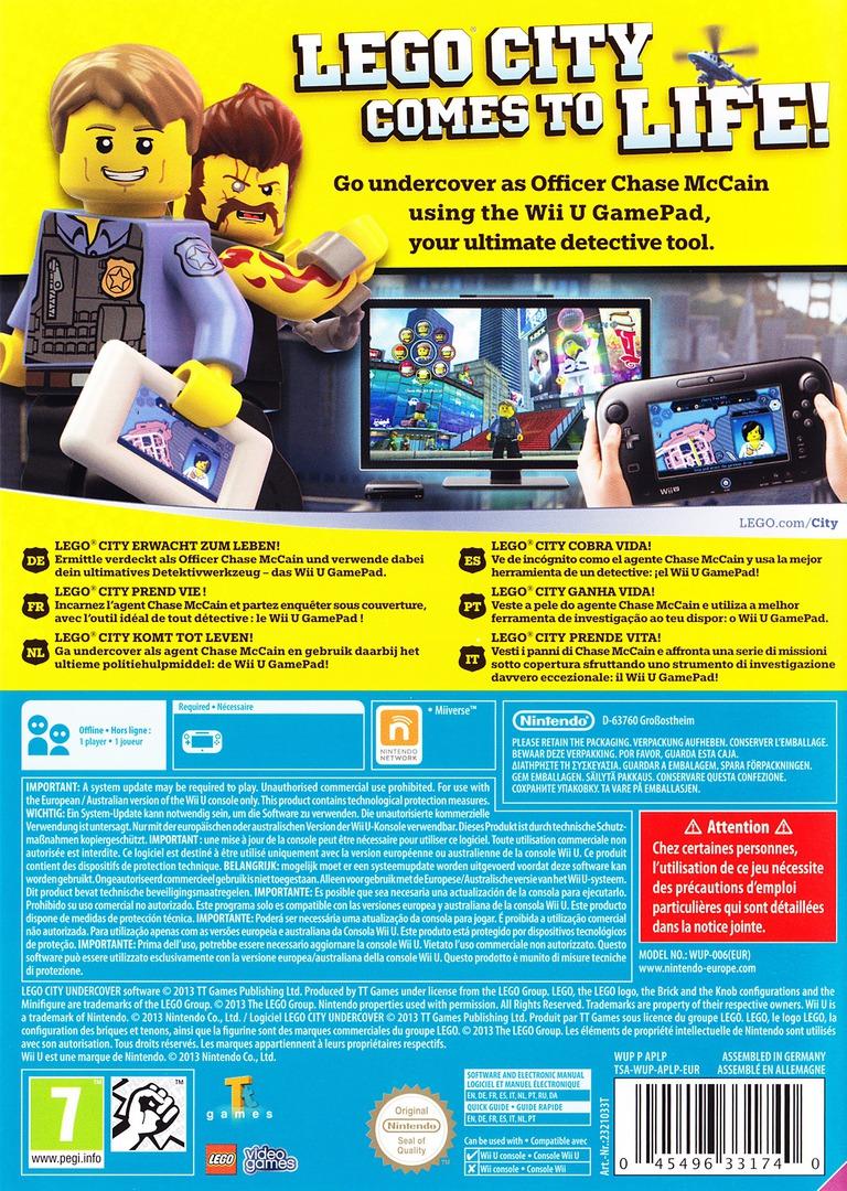 LEGO City Undercover WiiU backHQ (APLP01)