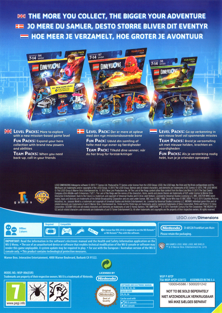 LEGO Dimensions WiiU backHQ (APZPWR)