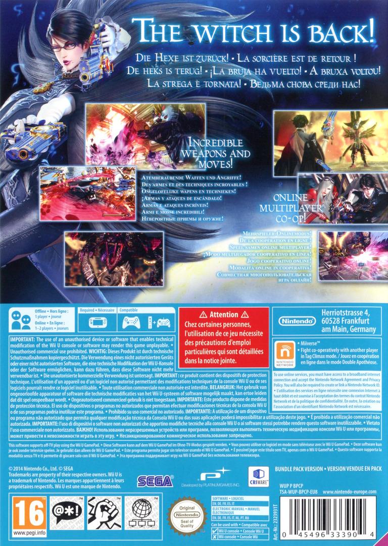 Bayonetta 2 WiiU backHQ (AQUP01)