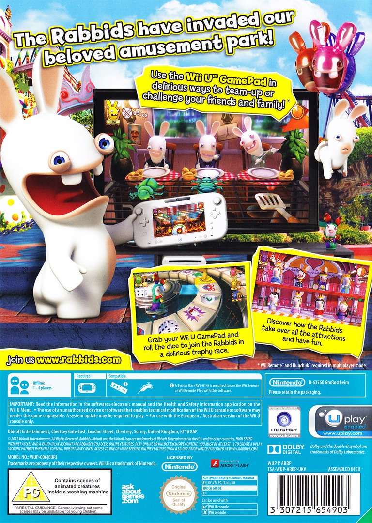 Rabbids Land WiiU backHQ (ARBP41)