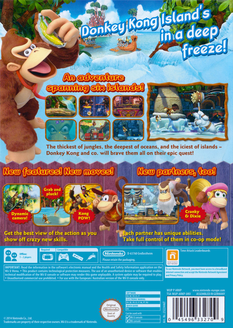 Donkey Kong Country: Tropical Freeze WiiU backHQ (ARKP01)