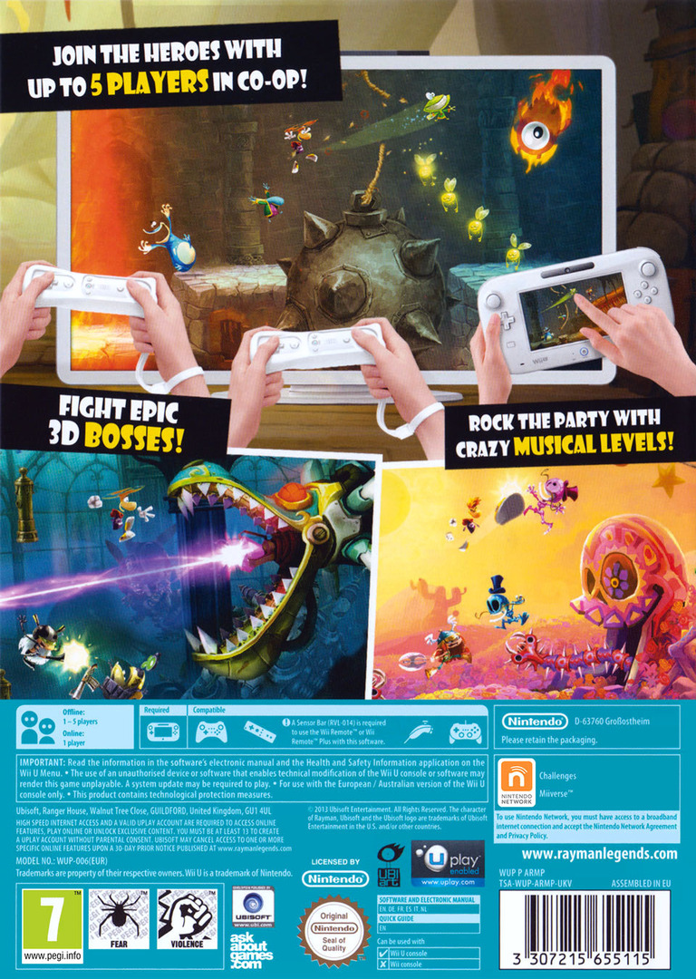Rayman Legends WiiU backHQ (ARMP41)