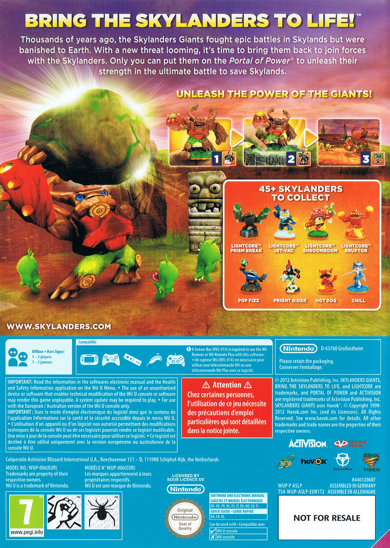 Skylanders: Giants WiiU backHQ (ASLP52)