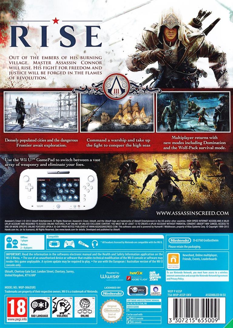 Assassin's Creed III WiiU backHQ (ASSP41)