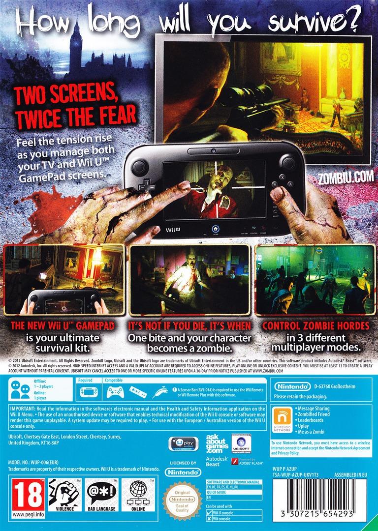 ZombiU WiiU backHQ (AZUP41)