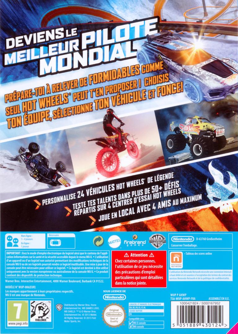 Hot Wheels:Meilleur Pilote Mondial WiiU backHQ (AHWPWR)