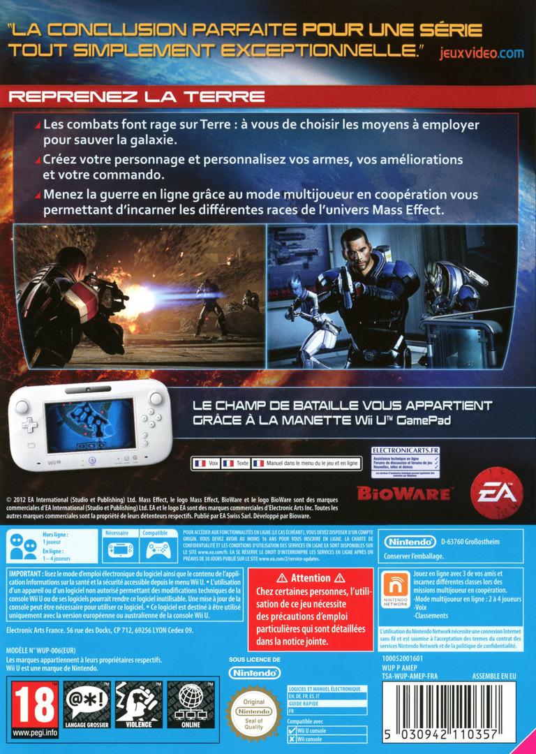 Mass Effect 3 - édition spéciale WiiU backHQ (AMEP69)