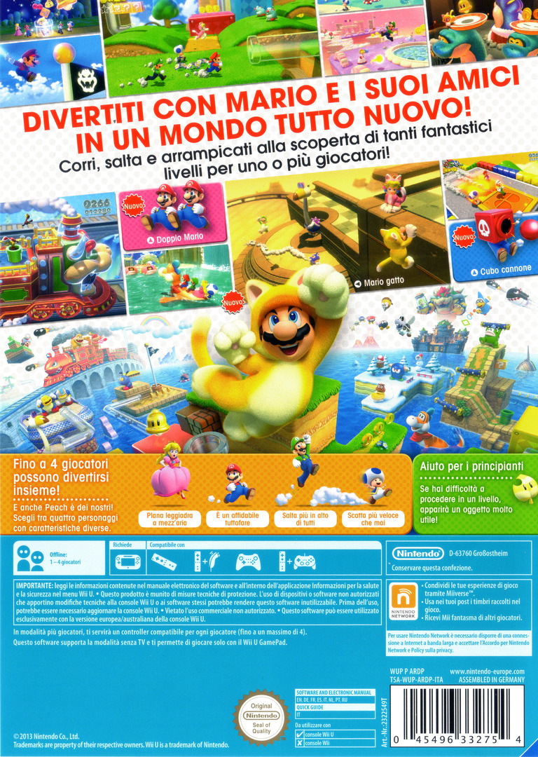 Super Mario 3D World WiiU backHQ (ARDP01)
