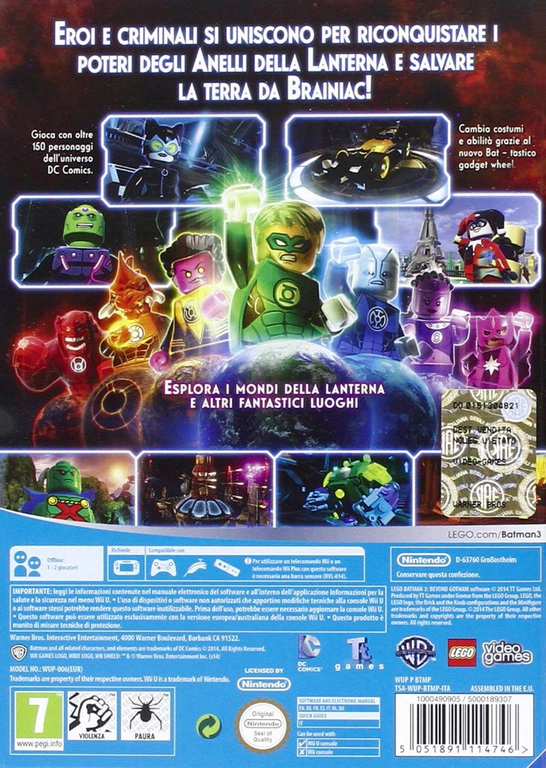 LEGO Batman 3: Gotham e Oltre WiiU backHQ (BTMPWR)