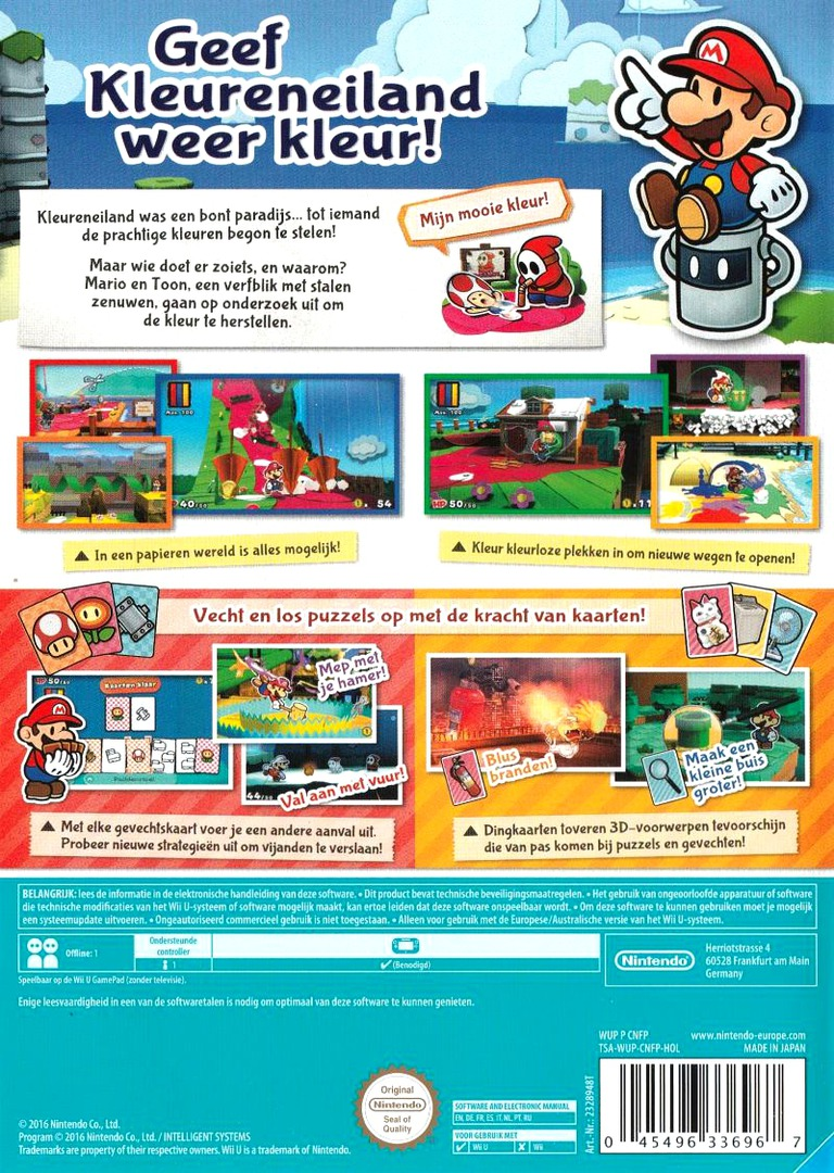 Paper Mario: Color Splash WiiU backHQ (CNFP01)