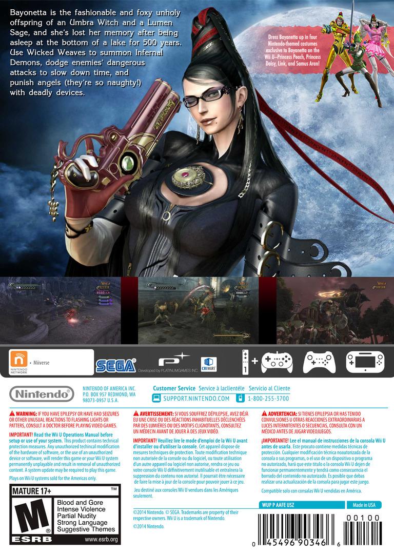 Bayonetta WiiU backHQ (AAFE01)