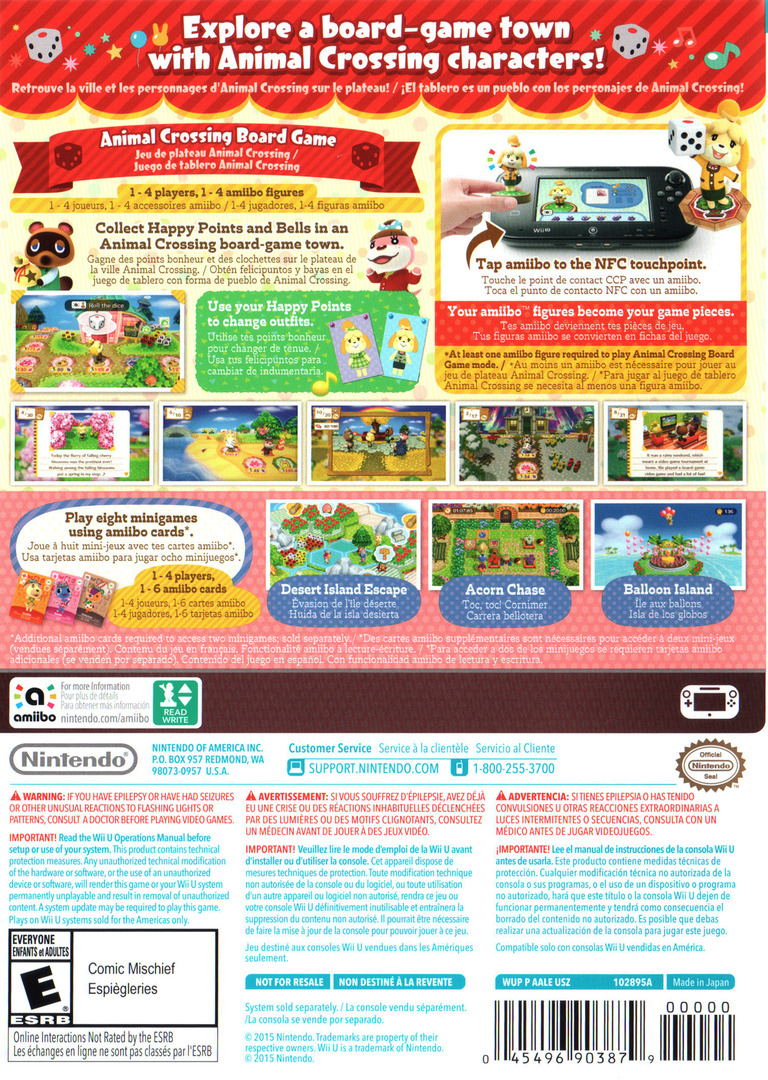 Animal Crossing: amiibo Festival WiiU backHQ (AALE01)