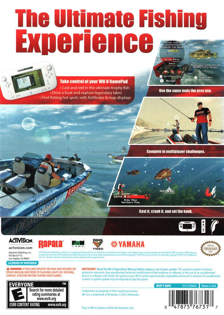 Rapala Pro Bass Fishing WiiU backHQ (ABFE52)