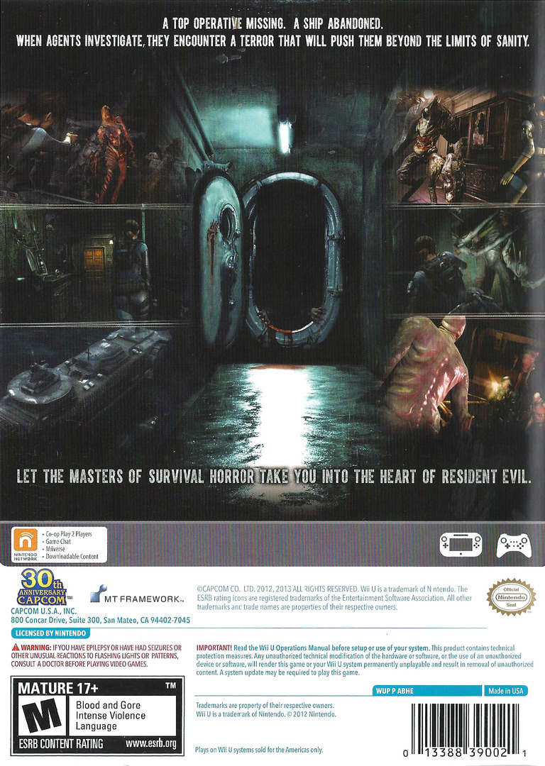 Resident Evil: Revelations WiiU backHQ (ABHE08)