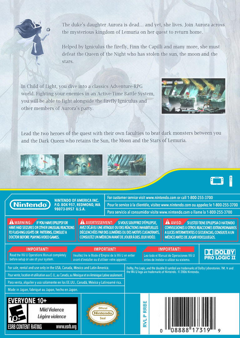 Child of Light WiiU backHQ (ACLE)