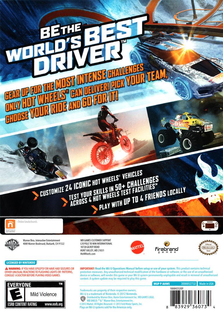 Hot Wheels: World's Best Driver WiiU backHQ (AHWEWR)