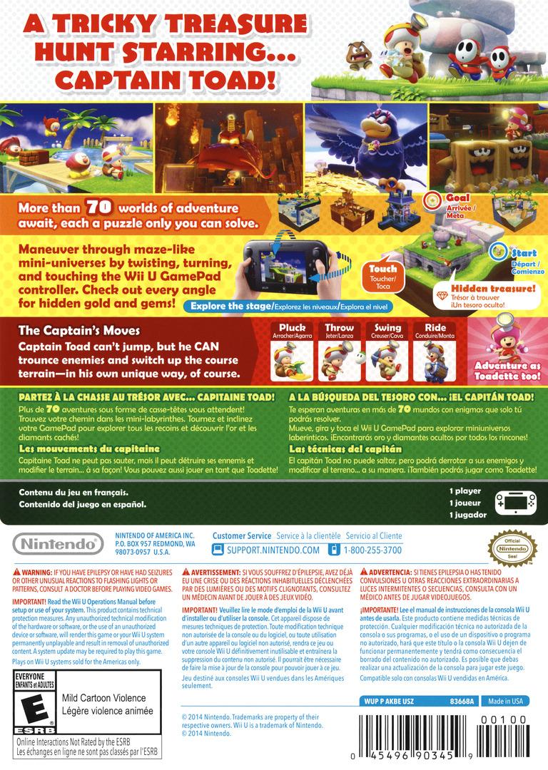 Captain Toad: Treasure Tracker WiiU backHQ (AKBE01)