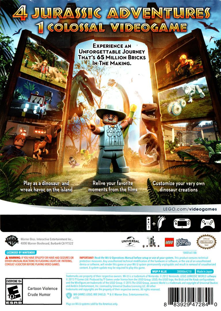 LEGO Jurassic World WiiU backHQ (ALJEWR)
