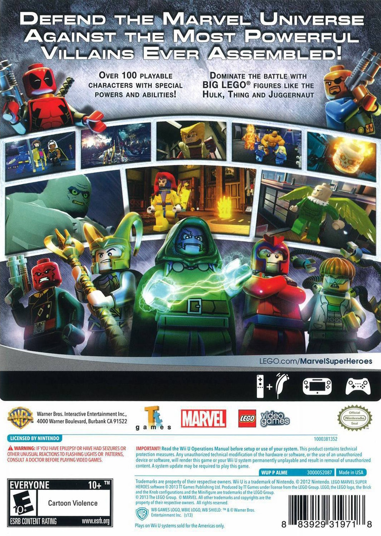 LEGO Marvel Super Heroes WiiU backHQ (ALMEWR)