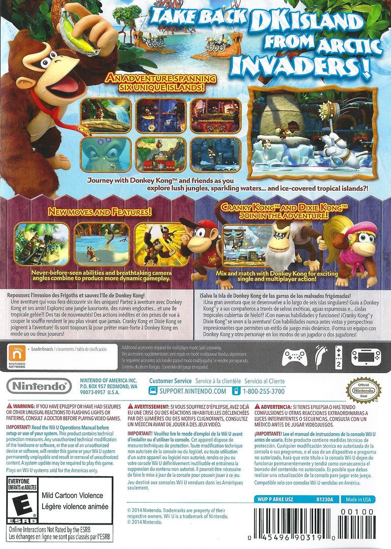 Donkey Kong Country: Tropical Freeze WiiU backHQ (ARKE01)