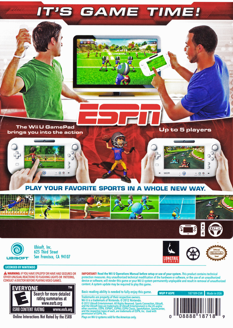 ESPN Sports Connection WiiU backHQ (ASPE41)