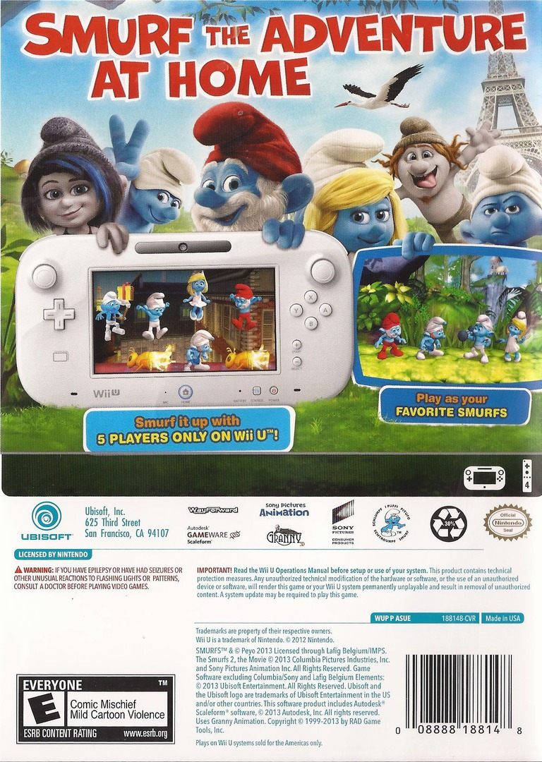 The Smurfs 2 WiiU backHQ (ASUE41)
