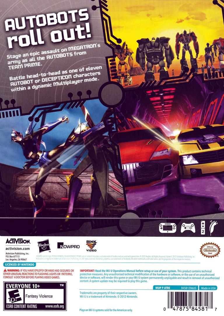 Transformers: Prime WiiU backHQ (ATRE52)